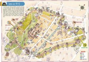 Plan de la forteresse de Hwaseong en 1796