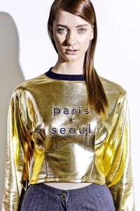 FW14/15 - Gold sweatshirt Paris Seoul