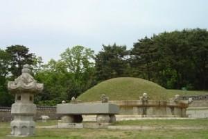 Geolleung, tumulus où sont enterrés le roi Jeongjo et la reine Hyoui