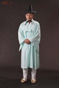 Noble sous Joseon portant un Durumagi