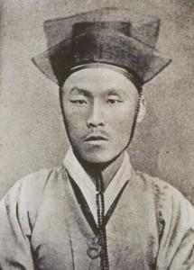 Kim Ok Gyun, fondateur du mouvement Gaehwapa et rebelle pro-japonais lors de l'incident Gabsin