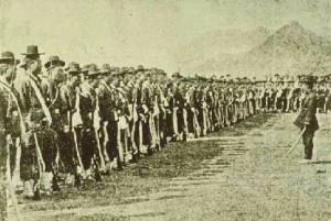 Soldats coréens lors de l'incident Imo en 1882